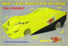 "Body Carrozzeria for 1/8 On Road R18 ""Clone Protoform"" 1mm ""PAINTED"" YELLOW FLUO"