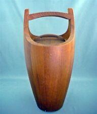 Vintage Danish Jens Quistgaard 810 Staved Teak Ice Bucket Dansk Designs c1960s