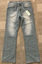 Mens Guess Jeans Cliff Boot Cut Size 31 X 32 100% Cotton Gray Slight Distress