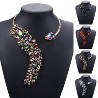 Women's Crystal Diamante Rhinestone Necklace Wedding Party Choker Chain Necklet