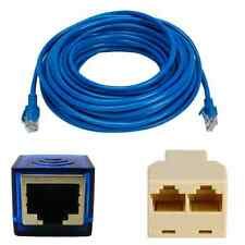 50Ft CAT5 RJ45 Ethernet LAN Network Cable +USB TO LAN CARD+ Ethernet Splitter