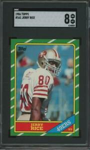 1986 Topps #161 Jerry Rice RC Rookie SGC 8