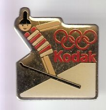 RARE PINS PIN'S .. OLYMPIQUE OLYMPIC ALBERTVILLE 92 PHOTO KODAK SAUT SKI N°2 ~17