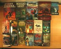 FANTASY BOOKS! Terry Brooks, R. A. Salvatore! Paperback/Hardcover, Lot of 17!