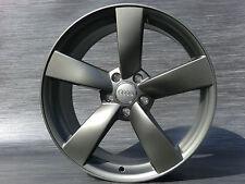 20 Zoll Rotor ET45 für Audi A6 4F 4G TT 8J S Coupe A8 4E Grau matt Alufelgen