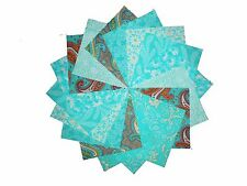 50 4 inch Quilting FABRIC squares WORLD OF AQUAS Charm pack/BUY IT NOW-
