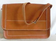 "Couru's Raw Leather Shoulder/Cross body Bag Brown Size 8.5""X11""X3"""