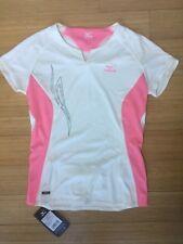 Mizuno Women's Precision Tee Medium White Athletic Shirt Short Sleeve NEW pocket
