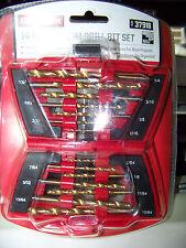 Craftsman 14 pc Titanium Drill Bit Set 9-37918  37918 w Flip Out Case NIP