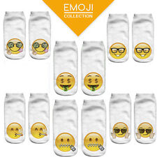 Funny Women 3D Print Casual Emoji Socks Men Unisex Low Cut Ankle Cotton Socks