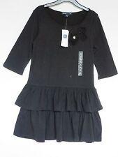 GAP Kids Girls Sz 4-5 NEW Black Rhinestone Ruffle Dress