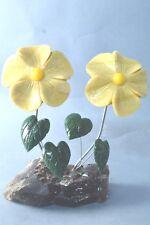 Flores Onyx y serpentina escultura de piedra flor 344g