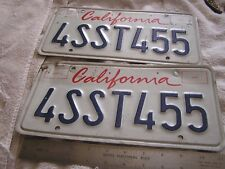 Vintage California License Plate Set