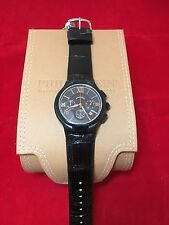 PHILIP STEIN 100% AUTHENTIC 45MM CHRONO BLK PVD ROSE NUMBERS MODEL 45CRBKRG