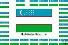 Assortiment lot de 2 autocollants Vinyle stickers drapeau Ouzbékistan-Uzbekistan