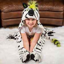 Wild Things Zebra, Hooded Animal Blanket by Fin Fun, Soft, Imaginative Play