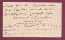 MILITARIA carte de visite BONNICHON capitaine artillerie CHATELLERAULT signature