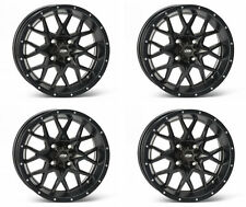 4 ATV/UTV Wheels Set 12in ITP Hurricane Matte Black 4/156 4+3 POL