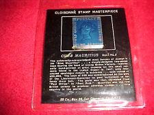 99 Company Cloisonne Stamp Masterpiece Csm-8 Us Mauritius Scott No.2 Jew Bronze