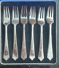 Antique Zee Sung Shanghai Chinese Asian Silver Dessert Pastry Forks