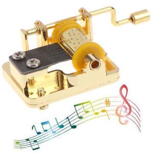 18 Tones Hand Cranked Music Box Mechanical Musical Movement Part Christmas Pa SC