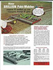 Farm Implement Brochure - Brillion PMWT-180 et al Seedbed Pulvi-Mulcher (F5279)
