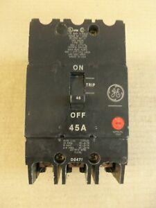 General Electric GE TEY TEY345 3 Pole 45 Amp 480V Circuit Breaker