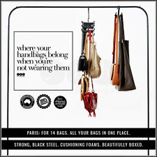 handbag storage hanger organiser hook wardrobe accessory bag purse cupboard spac