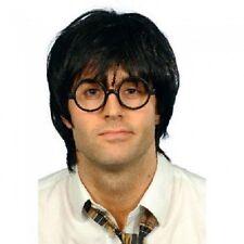 Schoolboy Fancy Dress Wig & Glasses Set Potter Black New by Smiffys