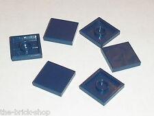 Lot 6 tiles NavyBlue 2 x 2 ref 3068b LEGO / Set 7283 7678 8635 8633 7252 8018