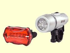 Arcas móvil bicicleta LED luz set 5 LED bicicleta lámpara de luz de bicicleta! nuevo!