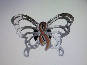 12 GOLD AWARENESS Ribbon BUTTERFLY PINS childhood cancer awareness Sept NICE