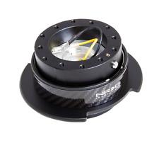 NRG Gen 2.5 Quick Release System Snap Off Steering Black / CARBON UK Universal