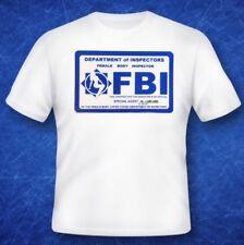 FBI badge Female Body Inspector tshirt Classic TV Movie Memorabilia