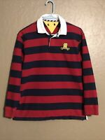 VTG 90s Tommy Hilfiger Shirt Long Sleeve Mens Small Spell Out Streetwear Striped