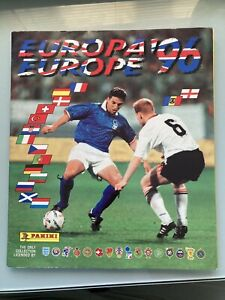 Panini Euro 96 Album From 1996 With Over 140 Stickers