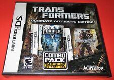 Transformers-Ultimate Autobots Edition Nintendo DS-DSi-Lite-XL-3DS New!