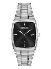 Citizen Mens Silver Stainless Steel Eco-drive Date Watch Au1070-82e