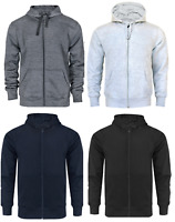 Mens Zip Up Hoodie Hooded Sweatshirt Fleece Top Plain Hoody Jumper Pullover BIG