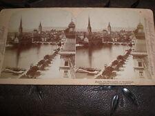 Old Stereoview photograph Zurich Switzerland by Underwood 1897