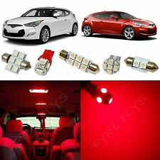 8x Red LED lights interior package kit for 2012-2017 Hyundai Veloster YV1R