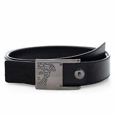 Versace Collection V91S201 Men's Saffiano Leather Belt Black Size 36
