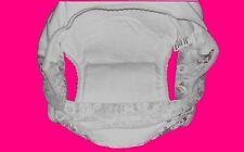 Neuf Adultes Pantalons de Protection Incontinence Pantalon Couche Blanc TAILLE L
