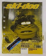 Ski-Doo 2000 Formula III 700 R, 800 OEM Factory Parts Catalog Manual 484 400 071