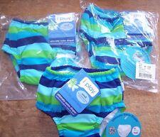 I Play Baby Boys Ultimate Swim Diaper Green Blue Stripe Small 3-6M 10-18lb