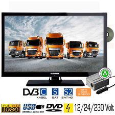 """Telefunken T22X740 Fernseher DVD LED TV 22"""" Zoll DVB/S/S2/T/T2/C 12/24/230 Volt"""