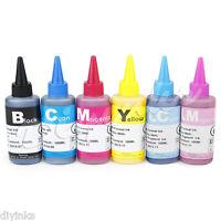 Pigment Ink Refill Bottles for Epson Stylus Photo 1390 1400 Artisan 1430 CISS