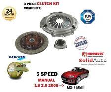Per Mazda mx5 mx-5 1.8 2.0 126bhp 160bhp 2005 - > NUOVO 5 velocità MANUALE CLUTCH KIT