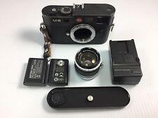 Leica  M8 10.3MP Digital Camera - Black + lens 1:1.8