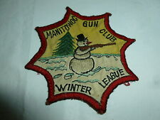 4-3/4 Inch Embroidered Manitowoc (WI) Gun Club Winter League Patch  Lot G-492